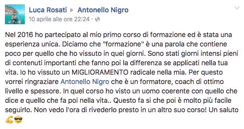 Testimonianza Luca Rosati