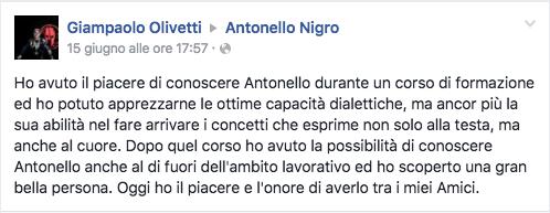 Testimonianza Giampaolo Olivetti